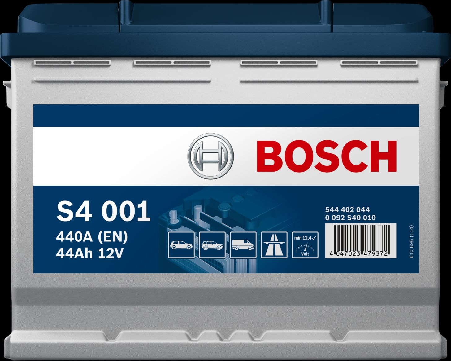 BOSCH S4  12V  44 Ah jobb + normál autó akkumulátor