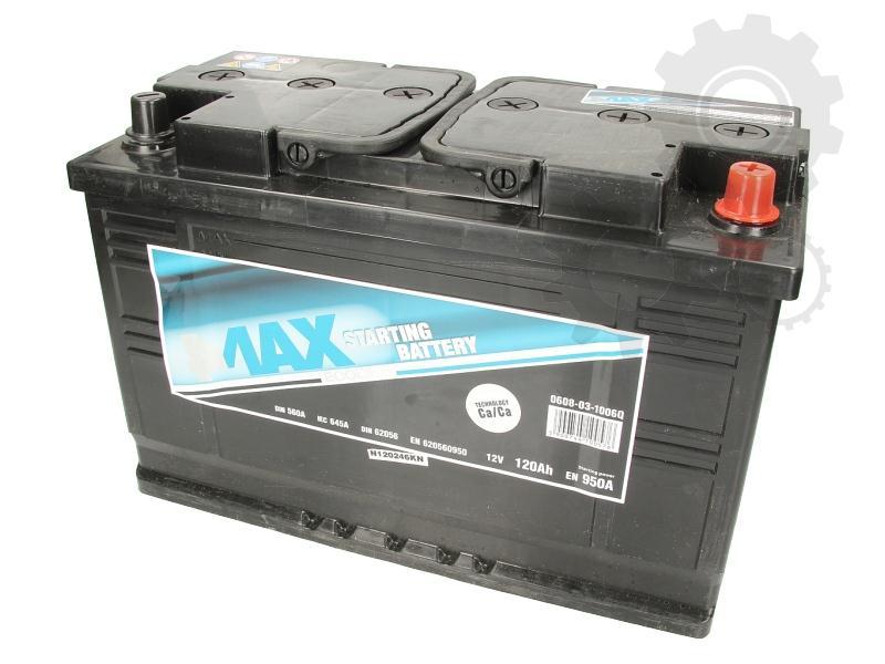 4MAX  12V  120 Ah jobb + normál teherautó akkumulátor