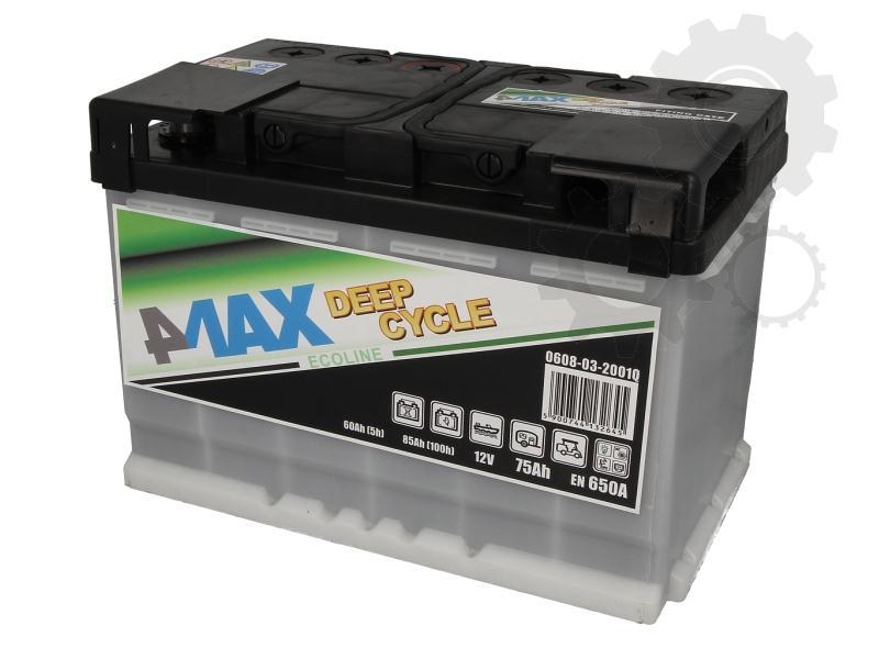 4MAX  12V  75 Ah jobb + MUNKA akkumulátor