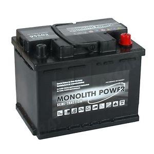 Monolith Power  12V  60 Ah jobb +  munka akkumulátor