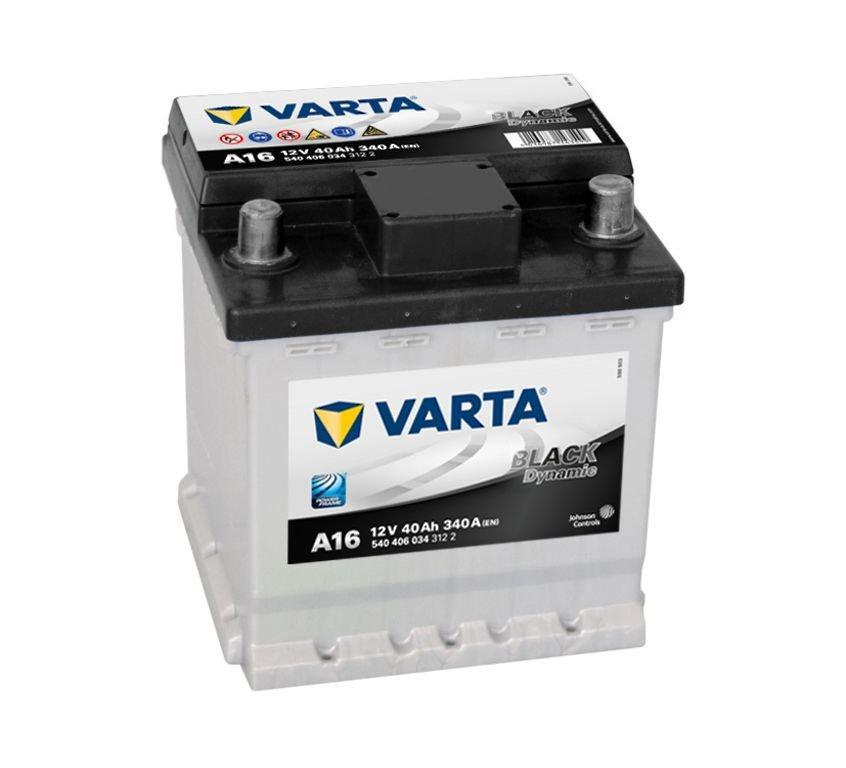 Varta Black 12V  40 Ah jobb + normál  autó akkumulátor