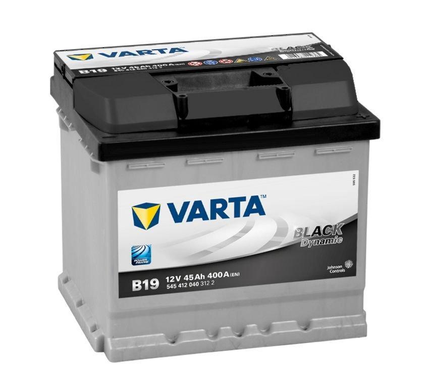 Varta Black 12V  45 Ah jobb + normál  autó akkumulátor