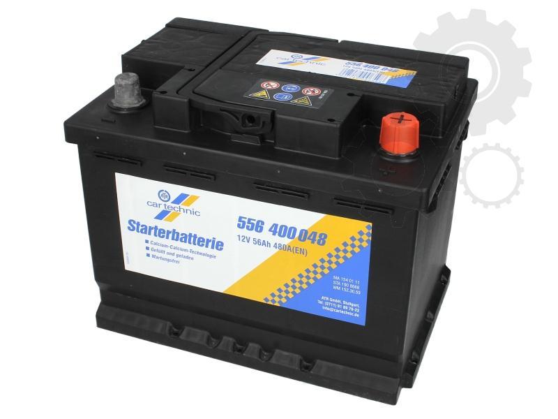 CARTECHNIC--12V--56-Ah-jobb--normal-auto-akkumulator-