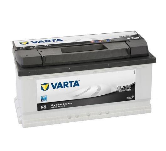 Varta Black 12V  88 Ah jobb + normál  autó akkumulátor