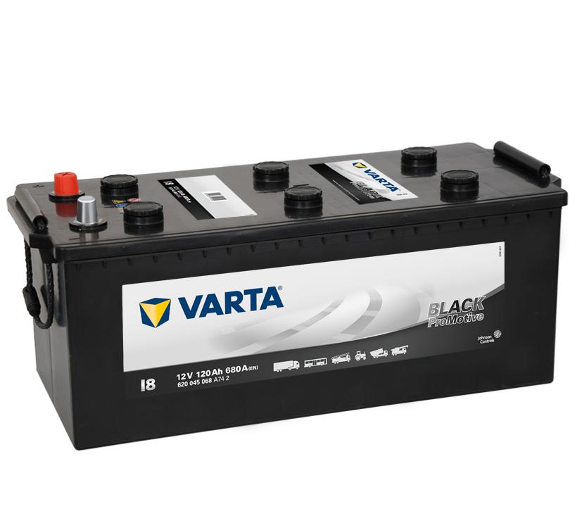 Varta Promotive Black 12V  120 Ah bal + normál  teherautó akkumulátor