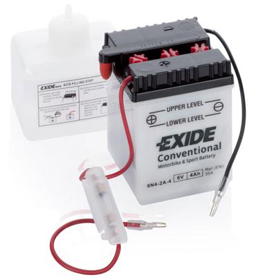 EXIDE  6V  4 Ah bal +  motor akkumulátor