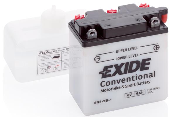 EXIDE  6V  6 Ah jobb +  motor akkumulátor