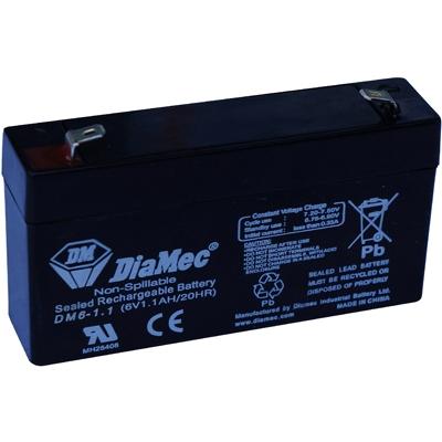 Diamec   6V  1,1 Ah   Kerékpár és UPS akkumulátor