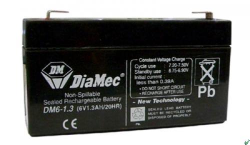 Diamec   6V  1,3 Ah   Kerékpár és UPS akkumulátor