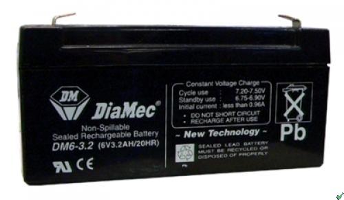 Diamec   6V  3,2 Ah   Kerékpár és UPS akkumulátor
