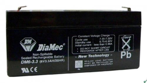 Diamec   6V  3,3 Ah   Kerékpár és UPS akkumulátor