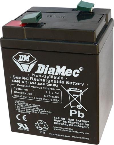 Diamec   6V  4,5 Ah   Kerékpár és UPS akkumulátor