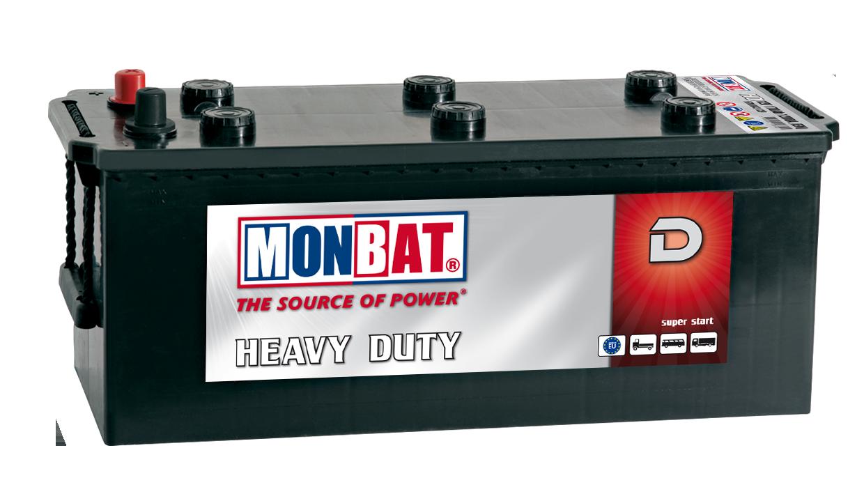 MONBAT  12V  150 Ah bal + normál teherautó akkumulátor