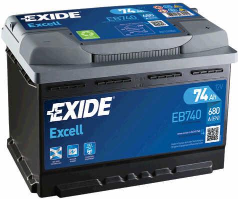 EXIDE--EXCELL-12V--74-Ah-jobb---auto-akkumulator-