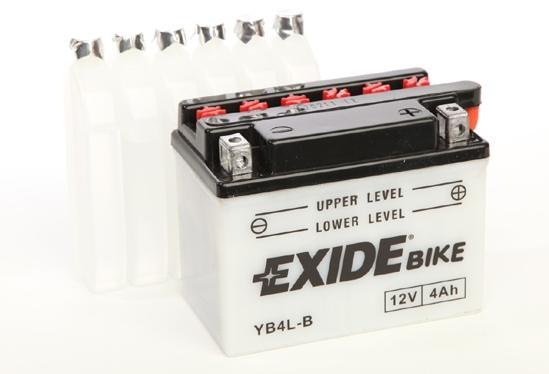 EXIDE  CONVENTIONAL 12V  4 Ah jobb +  motor akkumulátor