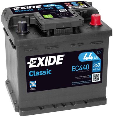 EXIDE--CLASSIC-12V--44-Ah-jobb---auto-akkumulator-