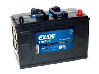 EXIDE  PROFESSIONAL 12V  110 Ah jobb +  teherautó akkumulátor