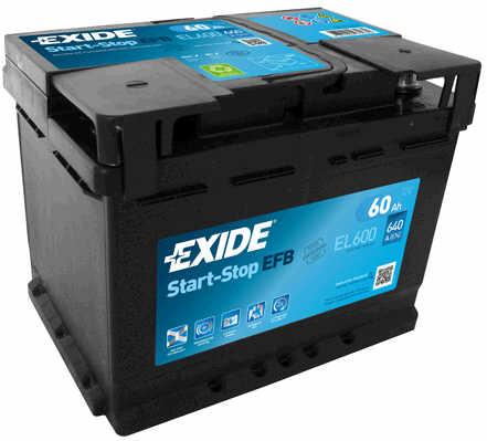 EXIDE  ECM 12V  60 Ah jobb + start & stop rendszerű akkumulátor