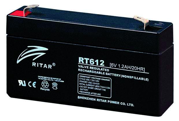 RITAR   6V  1,2 Ah   Kerékpár és UPS akkumulátor