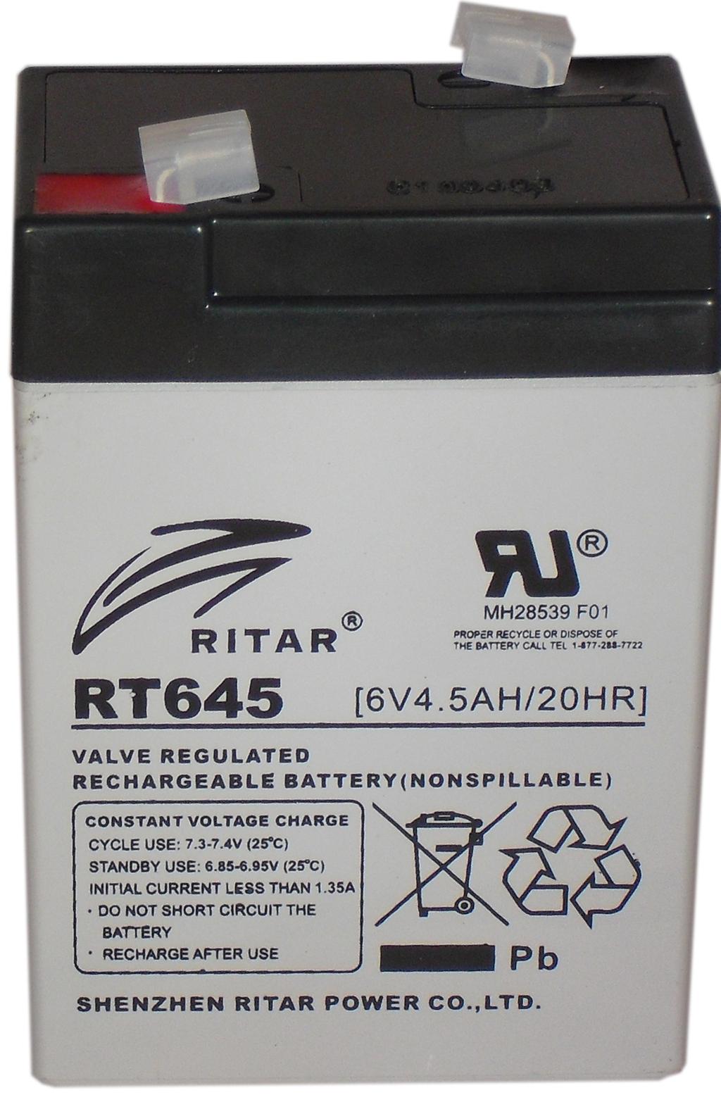 RITAR   6V  4,5 Ah   Kerékpár és UPS akkumulátor