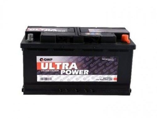 QWP Ultra 12V  91 Ah jobb + normál teherautó akkumulátor