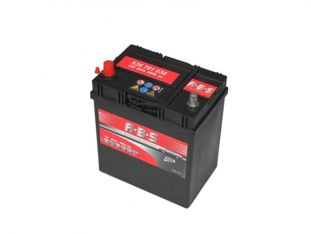 Abs ASIA 12V  35 Ah bal + vékonysarus  autó akkumulátor