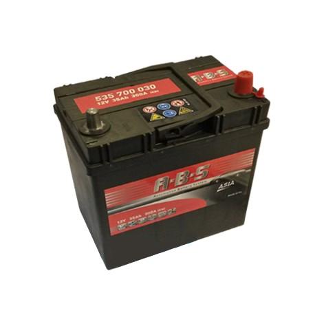 Abs ASIA 12V  35 Ah jobb + vékonysarus  autó akkumulátor