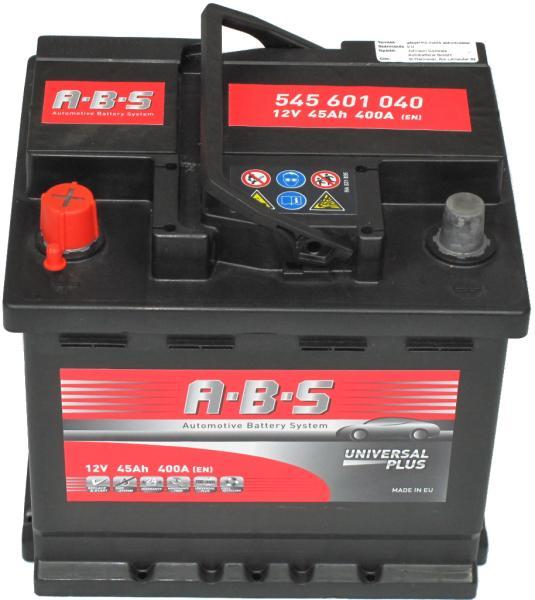 Abs Universal Plus 12V  45 Ah bal + normál  autó akkumulátor