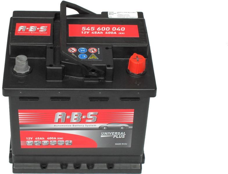 Abs Universal Plus 12V  45 Ah jobb + normál  autó akkumulátor