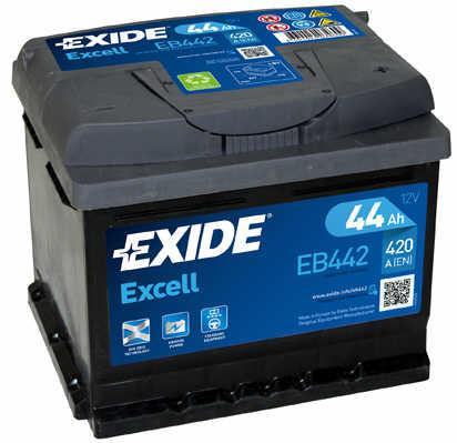 EXIDE  EXCELL 12V  44 Ah jobb +  autó akkumulátor