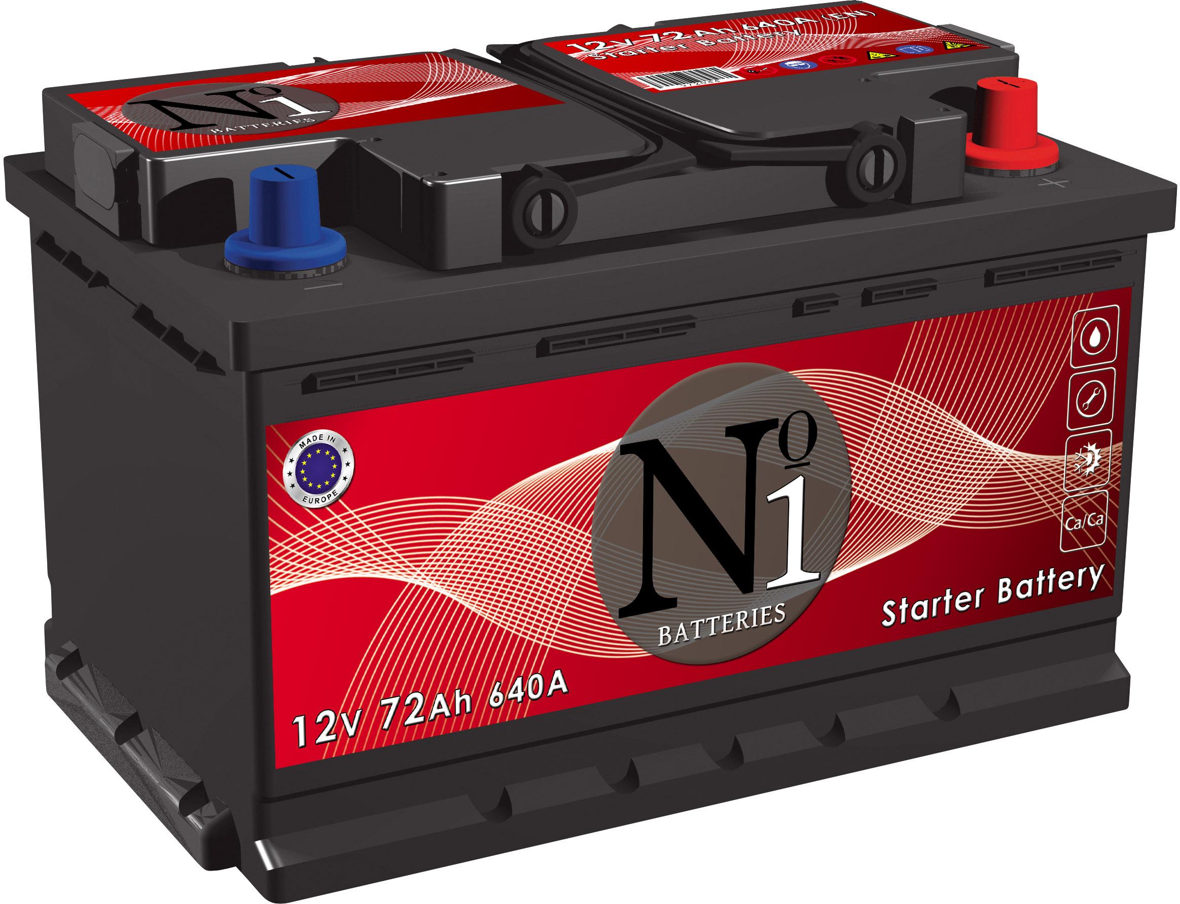 No1-Batteries-Starter-CaCa-technology-12V--72-Ah-jobb--normal-auto-akkumulator-