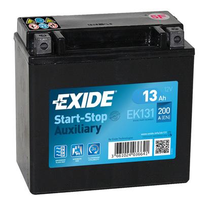 EXIDE  12V  13 Ah bal +  Start & Stop rendszerű akkumulátor motorkerékpár