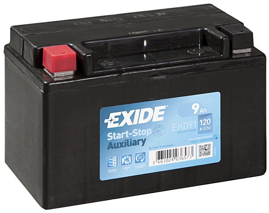 EXIDE  12V  9 Ah bal +  Start & Stop rendszerű akkumulátor motorkerékpár