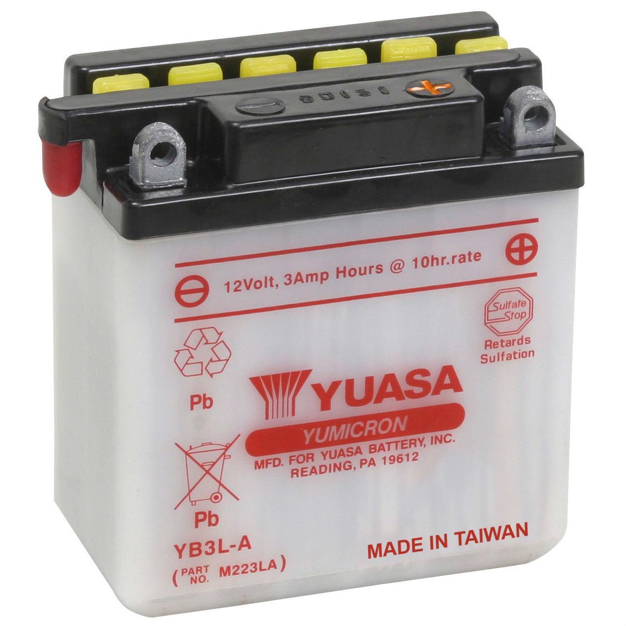 YUASA  12V  3 Ah jobb +  motor akkumulátor