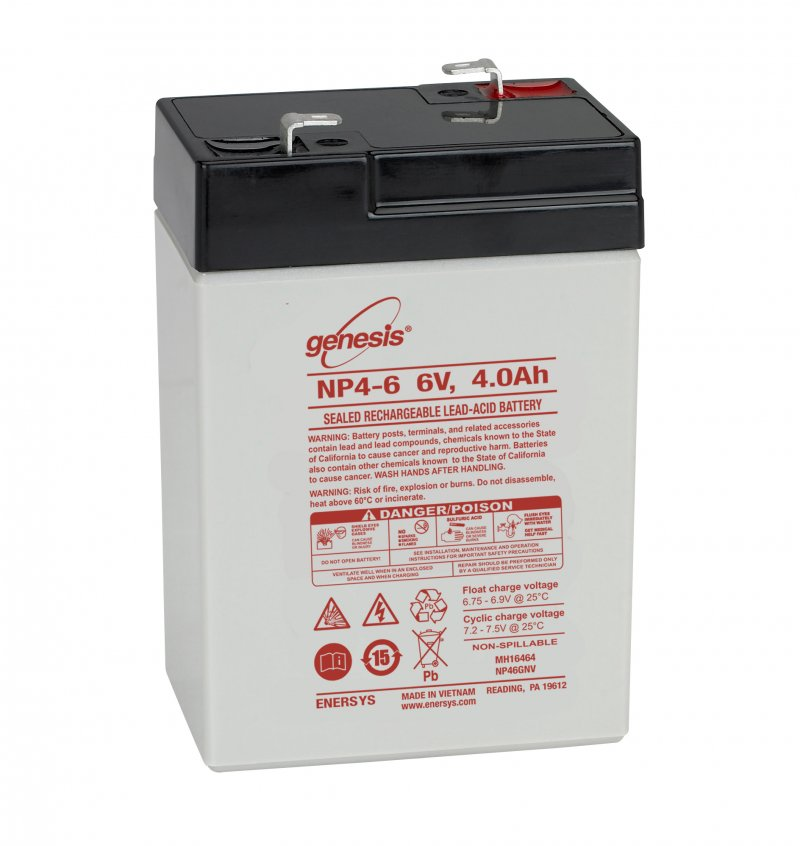 Genesis   6V  4 Ah   Kerékpár és UPS akkumulátor