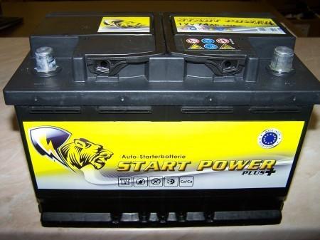 Start Power Plus 12V  45 Ah bal + normál autó akkumulátor