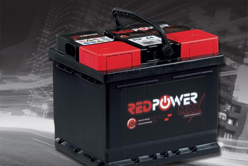 red power  12V  44 Ah jobb +normál autó akkumulátor