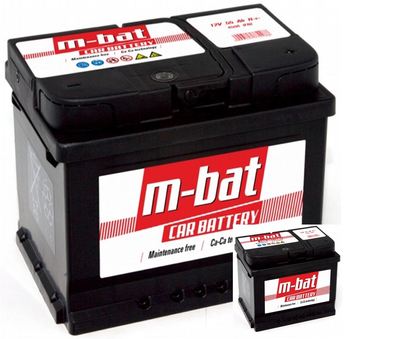 M-BAT 12V  45 Ah jobb + normál autó akkumulátor