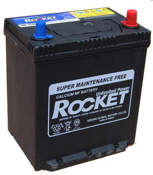 Rocket ASIA 12V  35 Ah jobb + vékonysarus  autó akkumulátor