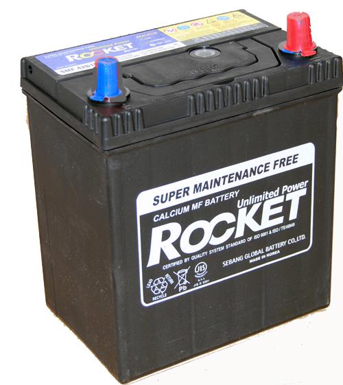 Rocket ASIA 12V 40 Ah jobb + vékonysarus  autó akkumulátor