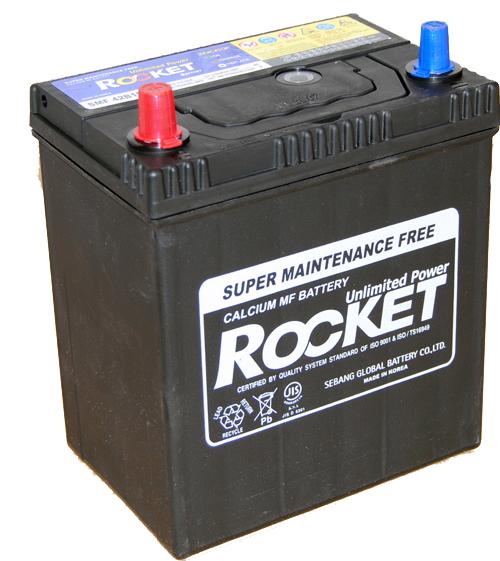 Rocket ASIA 12V 40 Ah bal + vékonysarus  autó akkumulátor