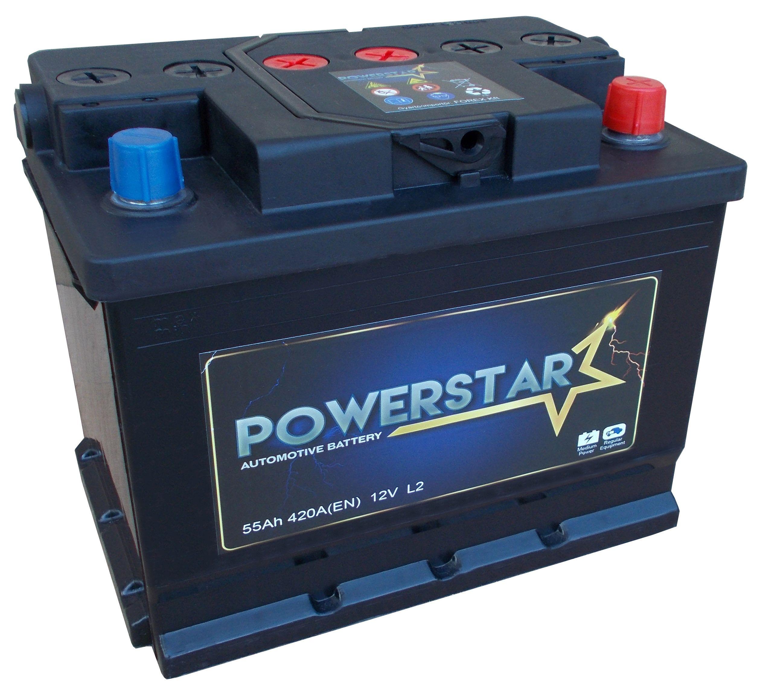 POWERSTAR--12V--55-Ah-jobb--normal-auto-akkumulator---