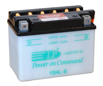 LANDPORT  12V  4 Ah jobb +  motor akkumulátor
