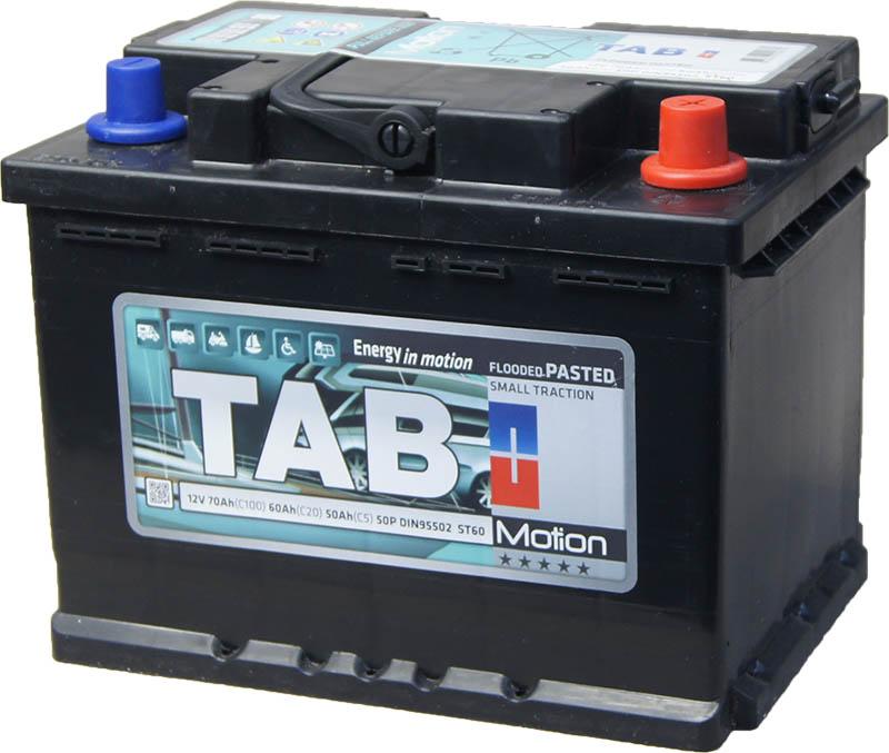 TAB Motion Pasted 12V  70/60/50 Ah jobb +  Munka akkumulátor