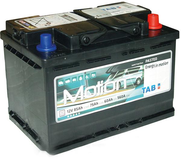 TAB Motion Pasted 12V  80/75/60 Ah jobb +  Munka akkumulátor