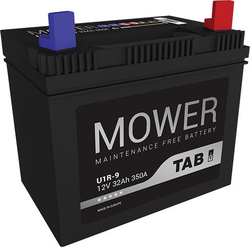TAB Mower fűnyíró akkumulátor 12V  32 Ah jobb +  fűnyíró akkumulátor
