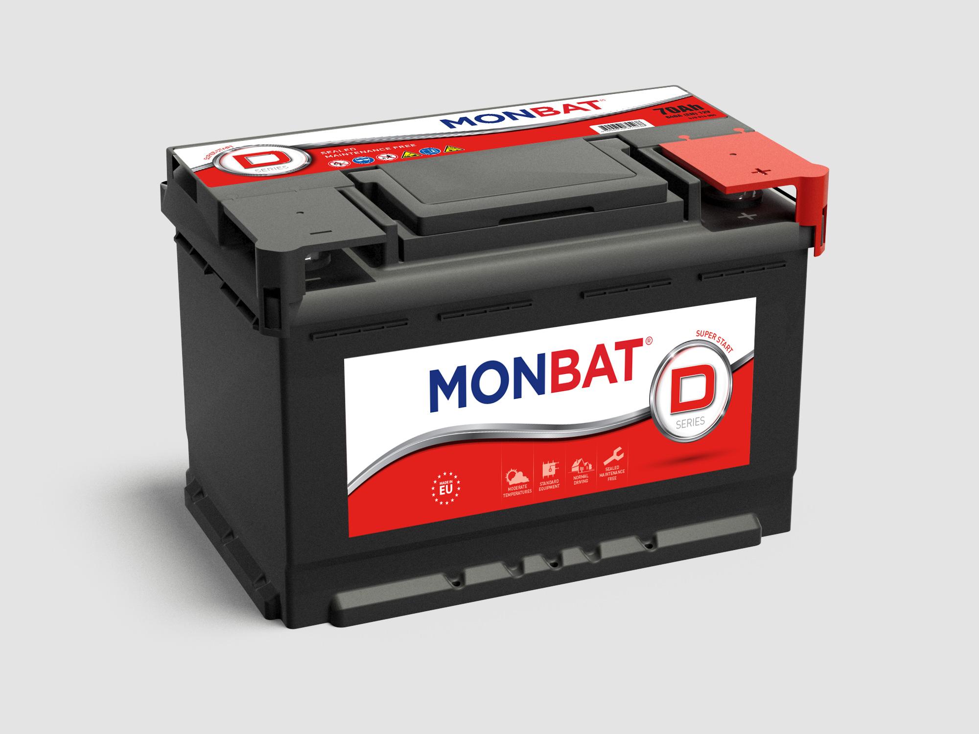MONBAT  12V  120 Ah jobb + normál teherautó akkumulátor