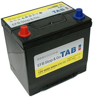 TAB EFB STOP&GO SMF 12V  60 Ah bal + normál autó akkumulátor ázsia