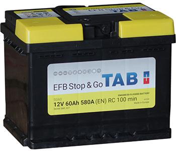 TAB EFB STOP&GO SMF 12V  60 Ah jobb + normál autó akkumulátor
