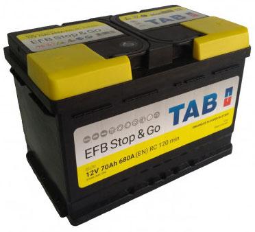 TAB EFB STOP&GO SMF 12V  70Ah jobb + normál autó akkumulátor